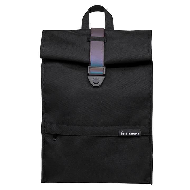 Bold Banana Roll Top Backpack Rugzak 15.6'' Black Reflex