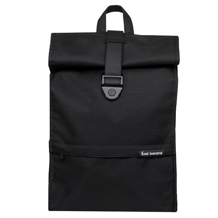 Bold Banana Roll Top Backpack Rugzak 15.6'' Big Black