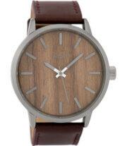 OOZOO Timepieces Horloge Donker Bruin/Oak | C9258