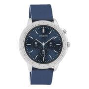 OOZOO Smartwatch Rubber Blauw/Zilver   Q00315