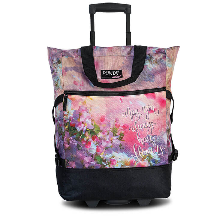 Punta Wheel Trolley Shopper Flowers