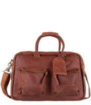 """Cowboysbag Schoudertas The College Bag 15.6"""" Cognac"""
