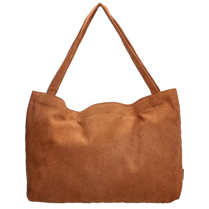 Beagles Corduroy Ribstof Mom Bag Navarra Cognac