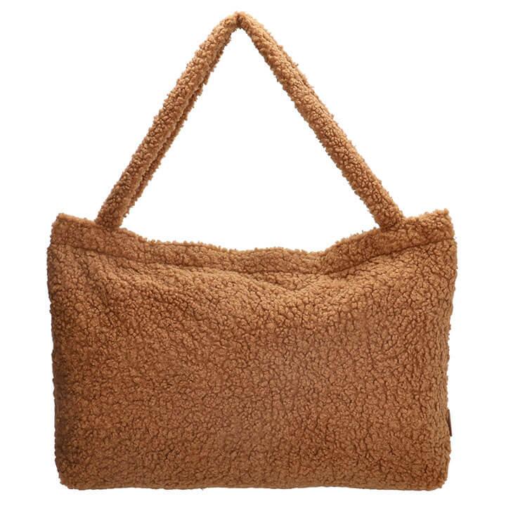 Beagles Fluffy Teddy Mom Bag Navarra Bruin
