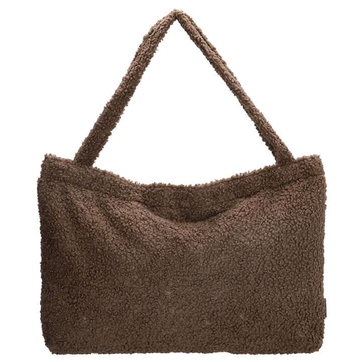 Beagles Fluffy Teddy Mom Bag Navarra Donker Taupe
