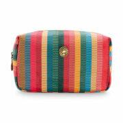 Pip Studio Make Up Tasje Cosmetic Bag Small Velvet Jacquard Stripe Multi