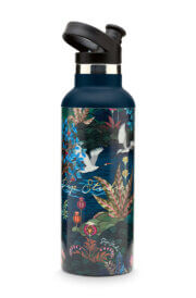 Pip Studio Waterfles Angie Water Bottle Pip Garden Dark Blue