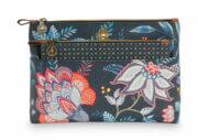 Pip Studio Toilettas Set Cosmetic Bag Combi Flower Festival Dark Blue