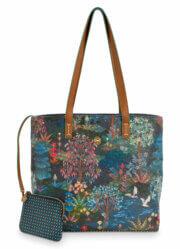 Pip Studio Shopper Medium met Etui Pip Garden Dark Blue