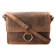 Leather Design Schoudertas met Overslag Hunter Bruin