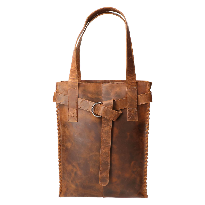 Revival by Leather Design Shopper Braided Hunter Bruin