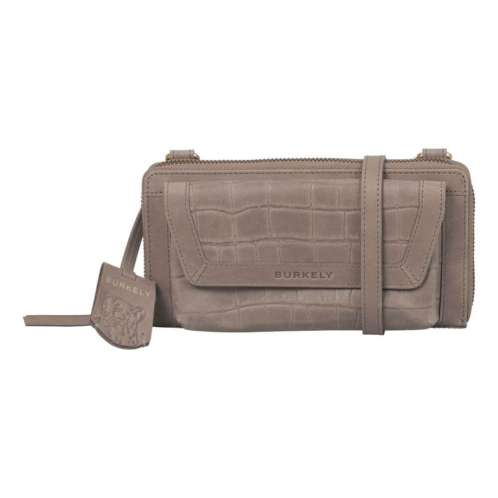Burkely Croco Cassy Phone Wallet Taupe