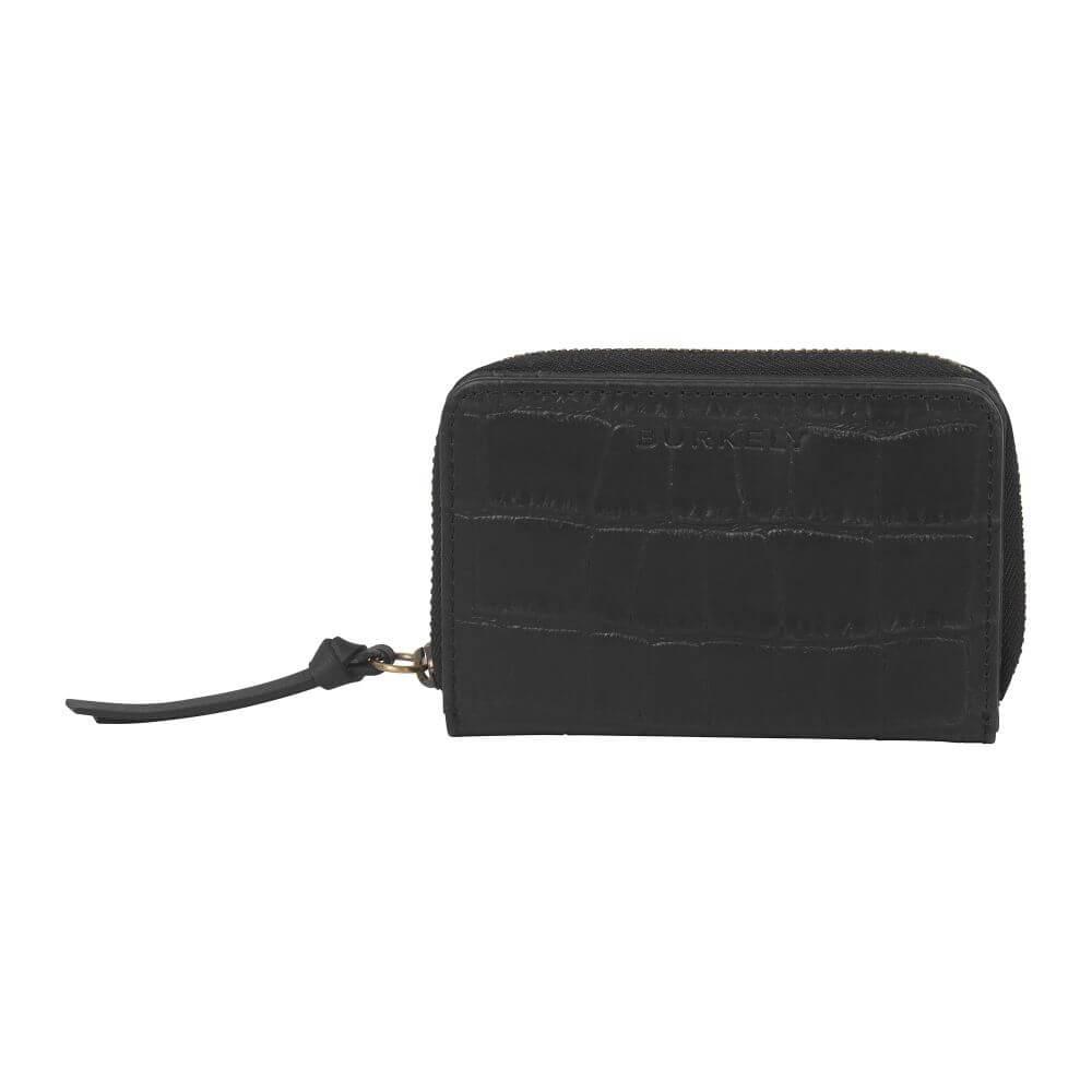 Burkely Croco Cassy Wallet S Portemonnee RFID Zwart