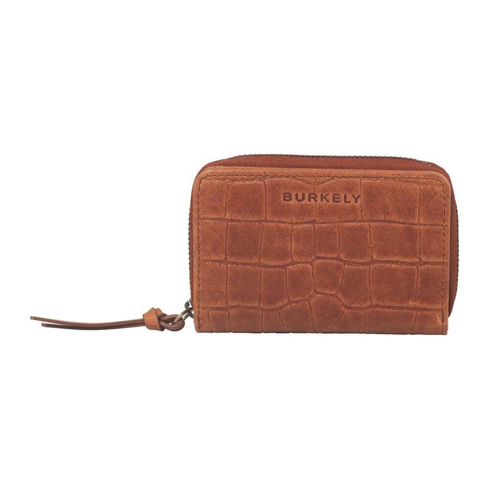 Burkely Croco Cassy Wallet S Portemonnee RFID Cognac