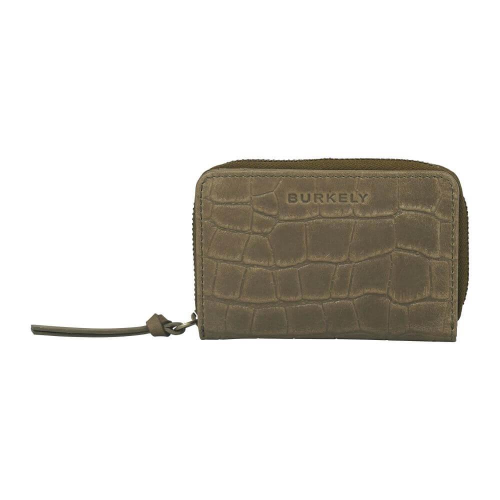 Burkely Croco Cassy Wallet S Portemonnee RFID Groen