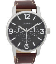 OOZOO Timepieces Horloge Roodbruin/Zwart | C9652