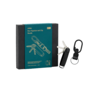 Orbitkey 2.0 Saffiano Key Holder Black Inclusief Clip Black Gift Set