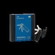 Orbitkey 2.0 Crazy Horse Key Holder Black/Blue Inclusief Multi-Tool Black Gift Set