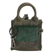 Micmacbags Mini Bag Key Ring Mendoza Donker Groen