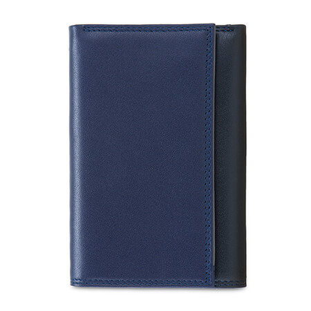 Mywalit RFID Tri-fold Wallet with Zip Nappa Notte