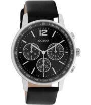 OOZOO Timepieces Horloge Zwart/Zilver | C10813