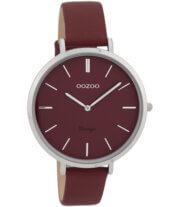 OOZOO Timepieces Horloge Vintage Burgundy | C9807