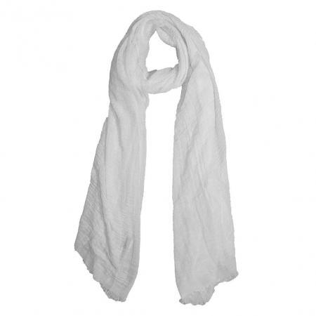Langwerpige, Effen, Sjaal, wit