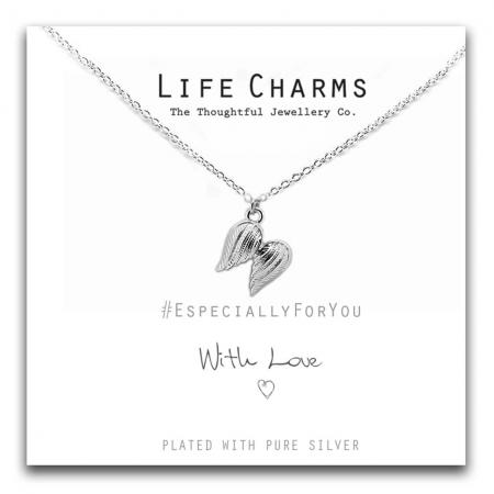Life Charms - ELJN0012 - Necklace Silver Angel Wings_3