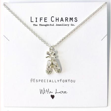 Life Charms - EFY036N - Necklace Silver Ballet shoes
