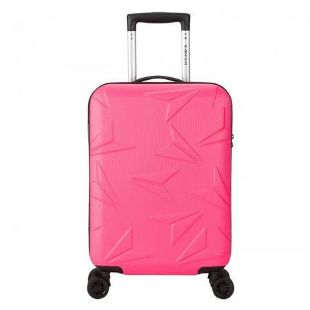 decent-q-luxx-handbagage-koffer-55cm-roze