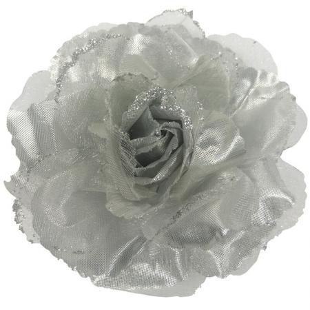 elastiek-broche-duckklem-roos-glitter-zilver