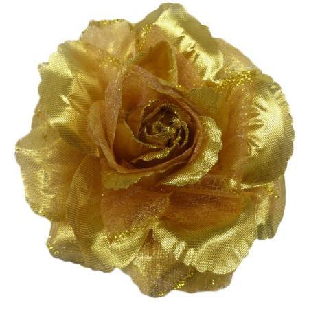 elastiek-broche-duckklem-roos-glitter-goud