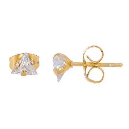 iXXXi_Ear_Studs_Triangle_Stone_Gold