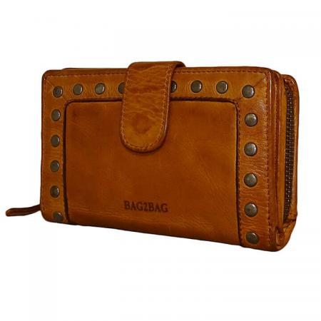 Bag2bag_Portemonnee_Studs_La_Fe_Tan_Cognac