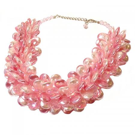 Ketting_Multiparel_Druppel_Collier_Statementketting_Roze