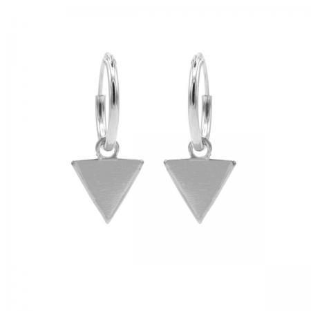 Karma Oorringen Hoops Triangle Zilver