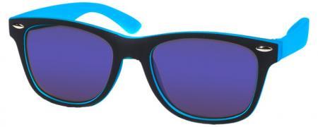 Kool-KidZ Wayfarer Kinder Zonnebril Zwart/Blauw