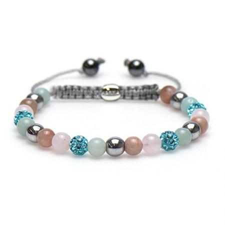 Karma Armband Spiral Baby Blue Crystal