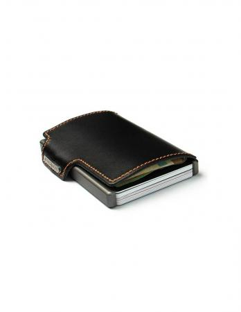 Mondraghi RFID Wallet The Original Black Stitched