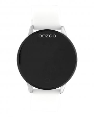 OOZOO Smartwatch Rubber Wit/Zilver   Q00110