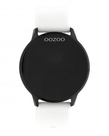 OOZOO Smartwatch Rubber Wit/Zwart   Q00112