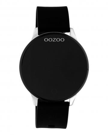 OOZOO Smartwatch Rubber Zwart/Zilver | Q00113