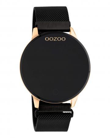 OOZOO Smartwatch Mesh Zwart/Rosé | Q00118