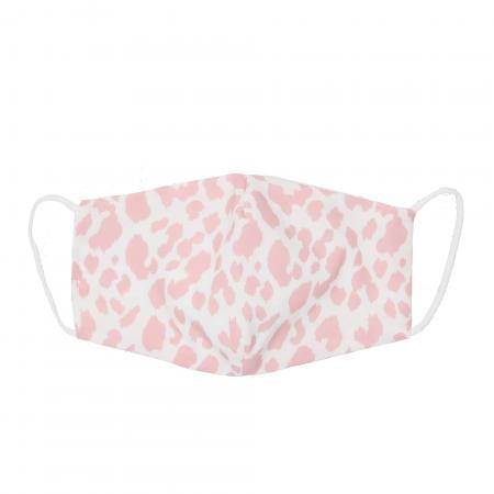 Wasbare Katoenen Mondkapje Tijger Wit/Roze
