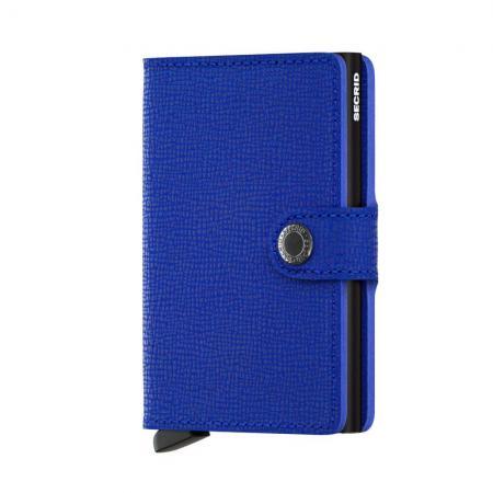 Secrid Mini Wallet Portemonnee Crisple Blue - Black