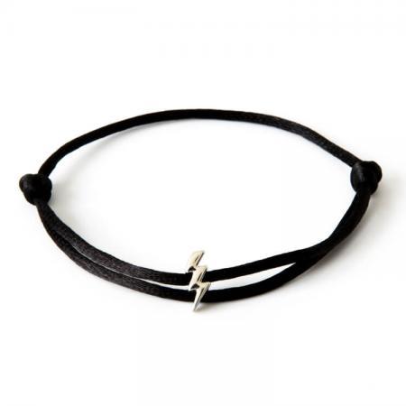Caviar Collection Armband / Enkelbandje Neon Black X Lightning White Gold