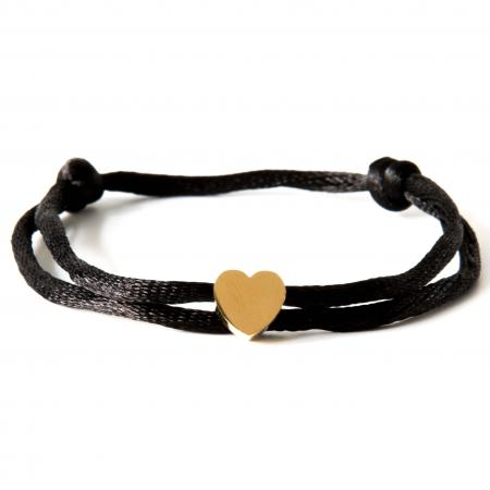 Caviar Collection Armband / Enkelbandje Neon Black X Heart Gold