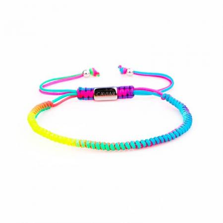 Caviar Collection Armband / Enkelbandje Neon X Rainbow
