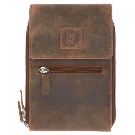 Leather Design Riemtasje / Schoudertasje / Portemonnee Hunter Bruin