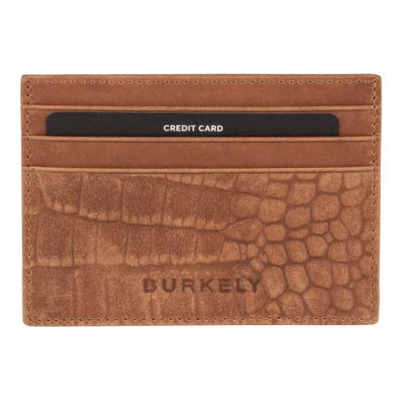 Burkely Croco Cody CC Holder RFID Cognac
